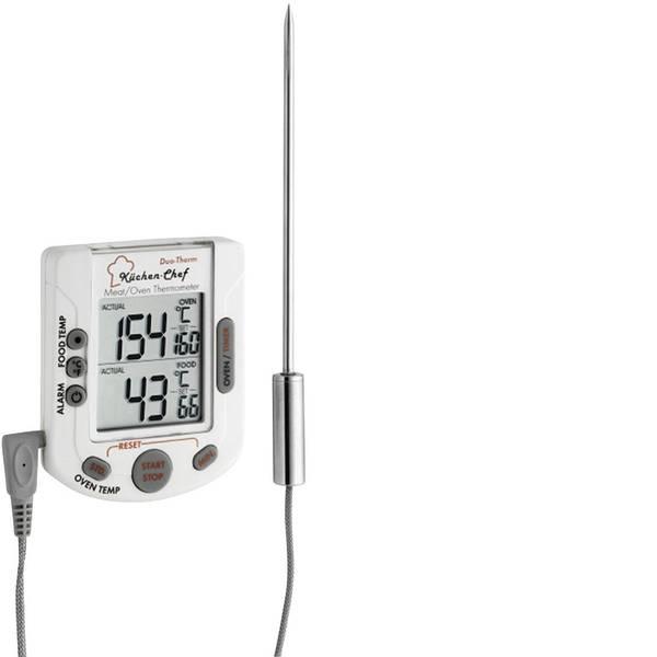 Termometri per la cucina - TFA 14.1503 Termometro da cucina Temperatura forno e nucleo, con touch screen, con temporizzatore, Allarme maiale,  -