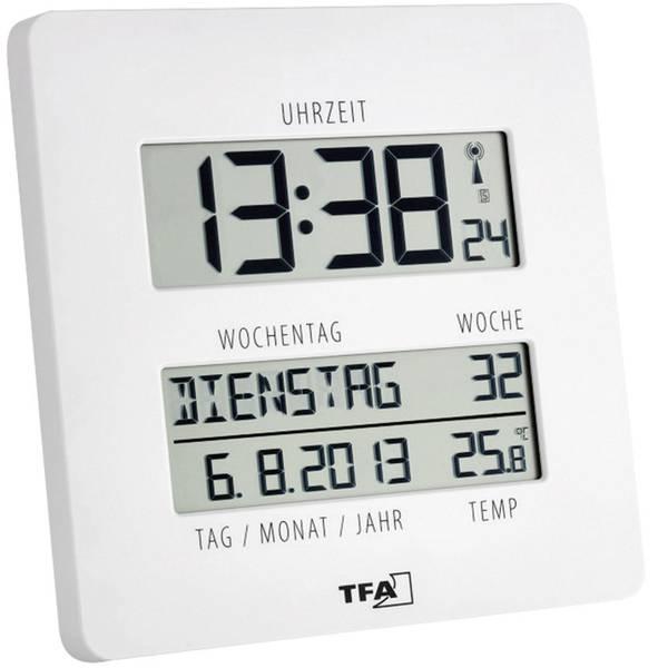 Orologi da parete - TFA 60.4509.02 Radiocontrollato Orologio da parete 27 mm x 195 mm x 195 mm Bianco -