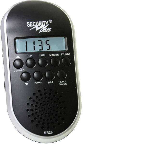 Altri accessori per biciclette - Radio per bicicletta Security Plus BR28 MP3/USB Nero / Argento -