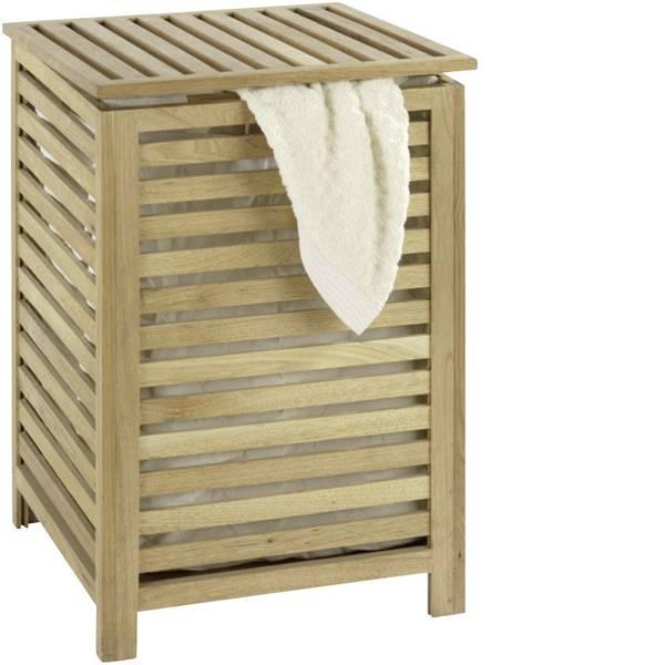 Porta biancheria - Waschetruhe WENKO Norway massiccio, legno noce -