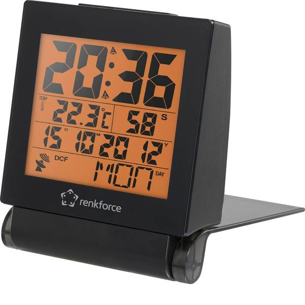 Sveglie - E0111R Radiocontrollato Sveglia Nero Tempi di allarme 2 -