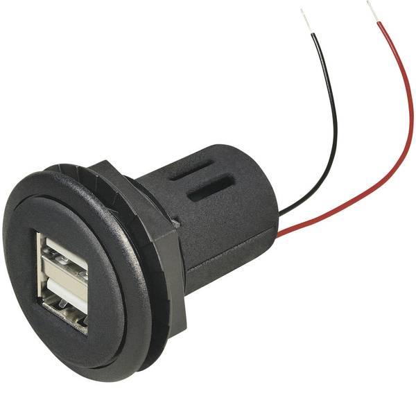 Accessori per presa accendisigari - ProCar Presa USB doppia Portata massima corrente=5 A Adatto per USB-A -