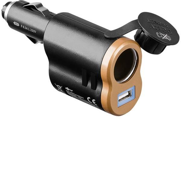 Accessori per presa accendisigari - Goobay 2 in 1 Adattatore USB Portata massima corrente=5 A Adatto per USB-A, Accendisigari -