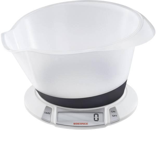 Bilance da cucina - Soehnle Olympia Plus Bilancia da cucina digitale digitale, con contenitore di misurazione Portata max.=5 kg Bianco -