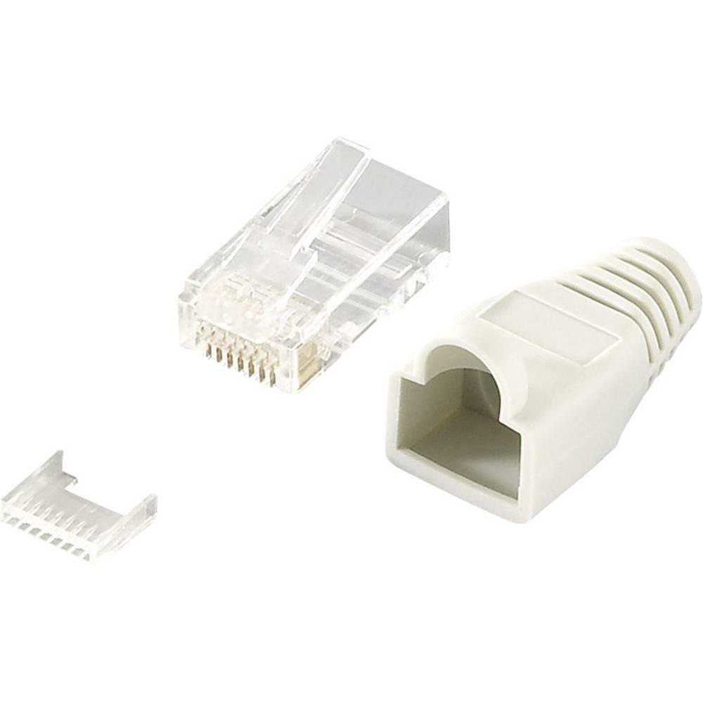 Cablaggio Cat 6 Schema : Connettore rj45 cat 6 non schermato spina dritta poli: 8p8c mp0023