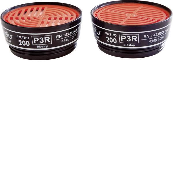 Filtri per protezione delle vie respiratorie - EKASTU Sekur Filtro antiparticolato 200 P3R D 422 395 Filtro-livello protezione: P3R D 8 pz. -