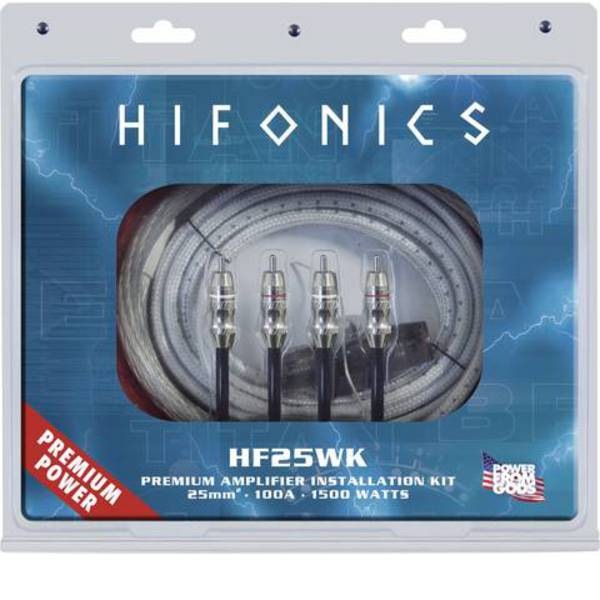 Kit di collegamenti HiFi per auto - Kit di collegamento amplificatore HiFi per auto Hifonics PREMIUM KIT HF25WK -