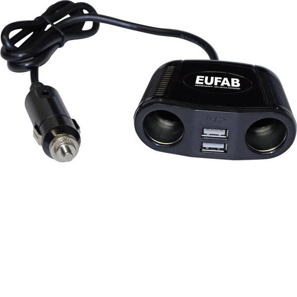 Multiprese per accendisigari - Distributore accendisigari Numero di accendisigari 2 x Interfacce: USB 2 x Portata massima corrente 10 A Eufab 16549 -
