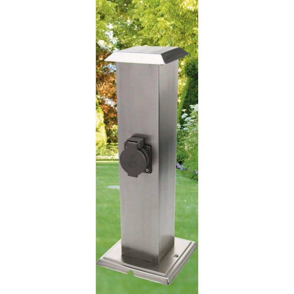 Heitronic 35107 presa di corrente da giardino 2 scomparti acciai in vendita online 35107 conrad - Illuminare giardino senza corrente ...