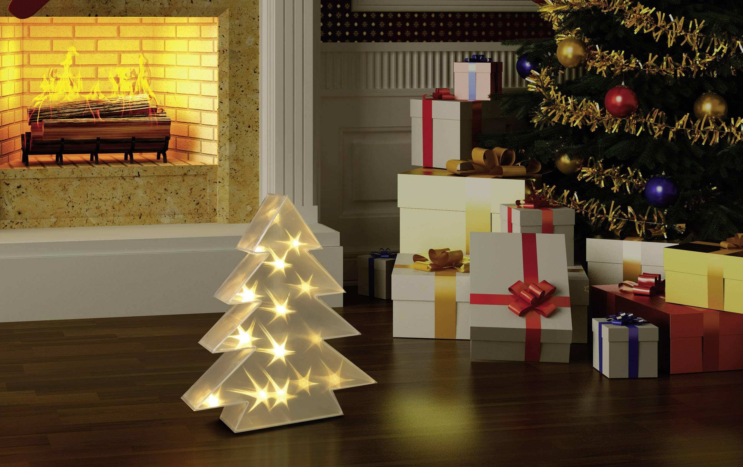 Albero Di Natale Bianco.Polarlite Lde 04 001 Decorazione Di Natale Led Albero Di Natale Bianco Caldo Led Trasparente