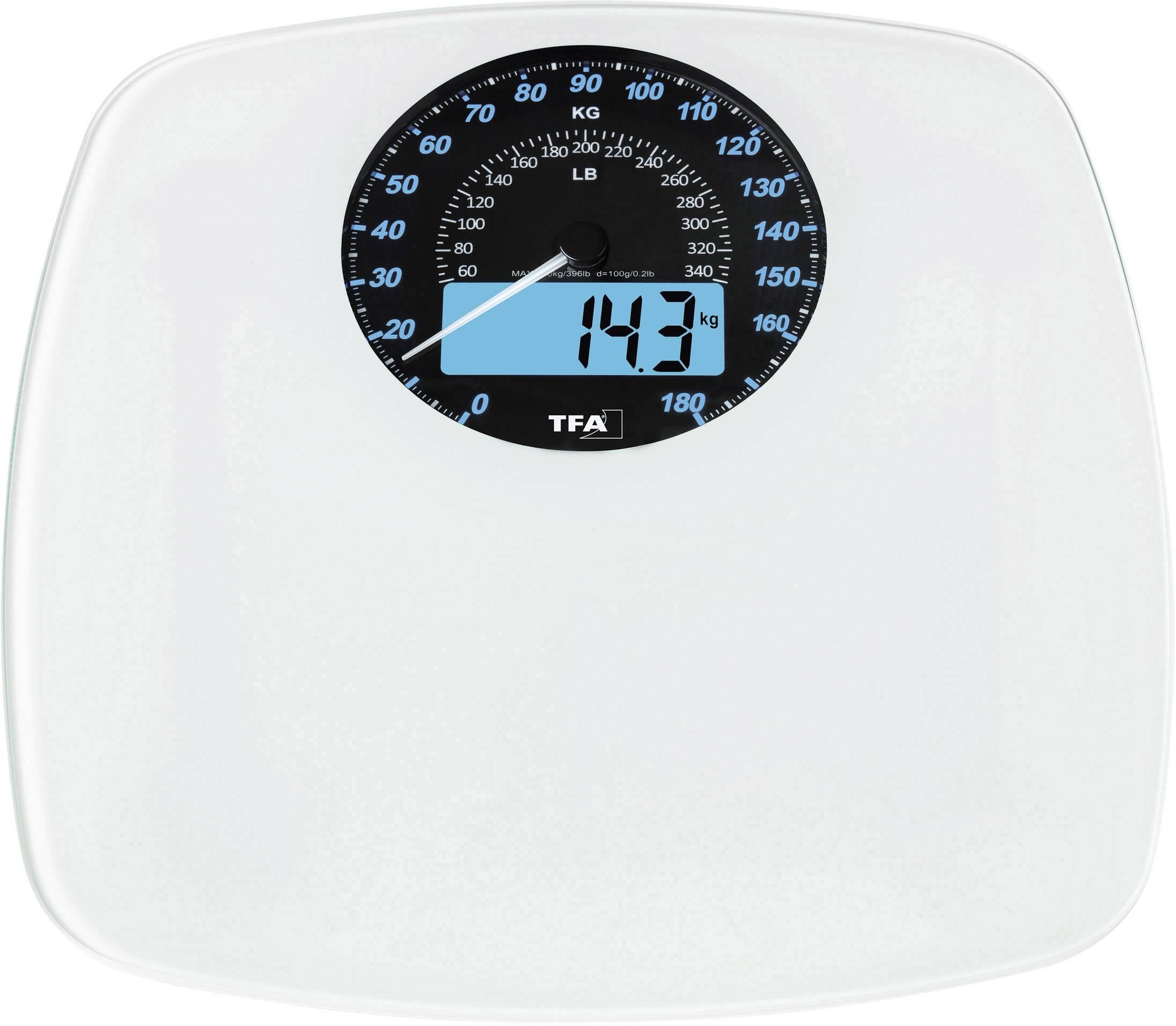 TFA SWING Bilancia pesapersone digitale Portata max.=180 kg Bianco