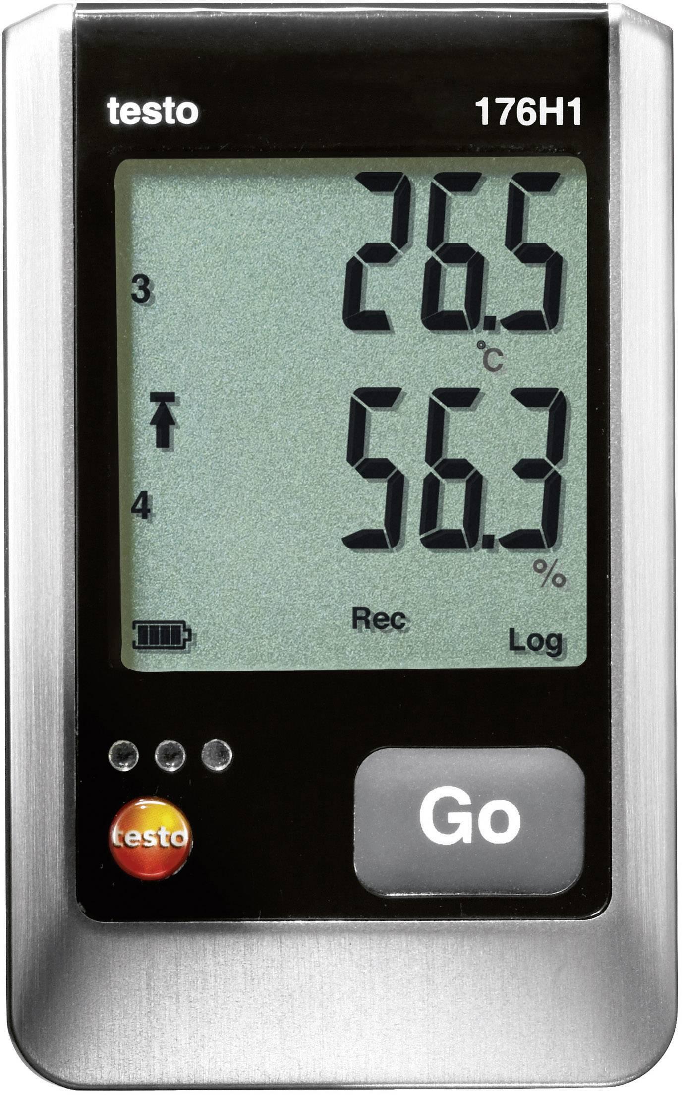 testo 176 H1 Data logger multifunzione Misura: Temperatura, Umidità dellaria -40 fino a 70 °C 0 fino a 100 % ur