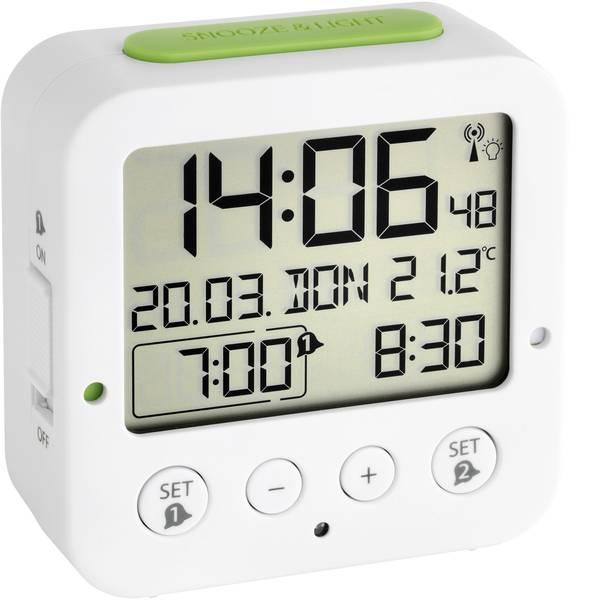 Sveglie - TFA 60.2528.02 Radiocontrollato Sveglia Bianco, Verde Tempi di allarme 2 -