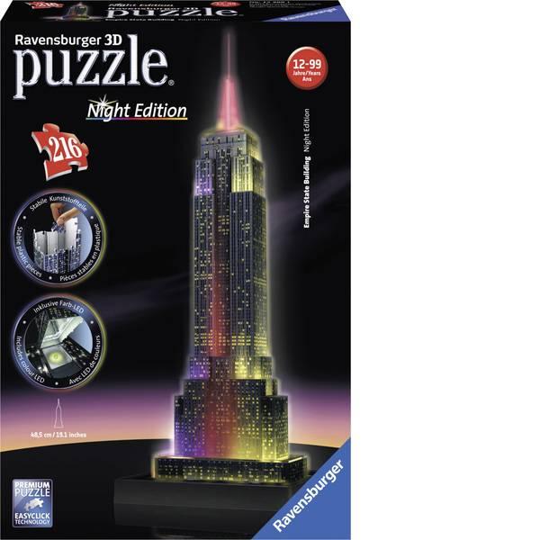 Puzzle - Ravensburger Puzzle 3D Empire state BUILDING di notte -