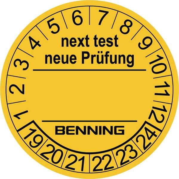 Targhette d`ispezione - Targhette di prova 300 pz. per tester per apparecchi Benning 756212 (Ø) 30 mmVerifica successiva -