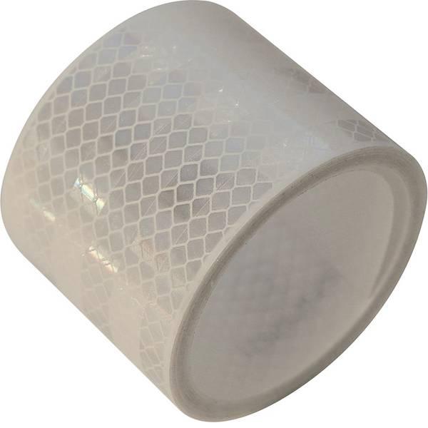 Nastri catarifrangenti - Nastro segnaletico catarifrangente LAS 10216 10216 Bianco (riflettente) 1 Rotolo(i) (L x L) 2 m x 50 mm Per superfici  -