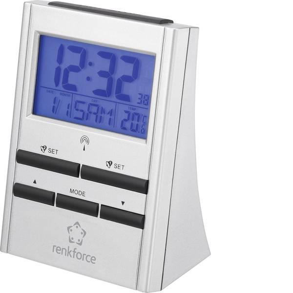Sveglie - Renkforce 51143 Radiocontrollato Sveglia Argento Tempi di allarme 2 -