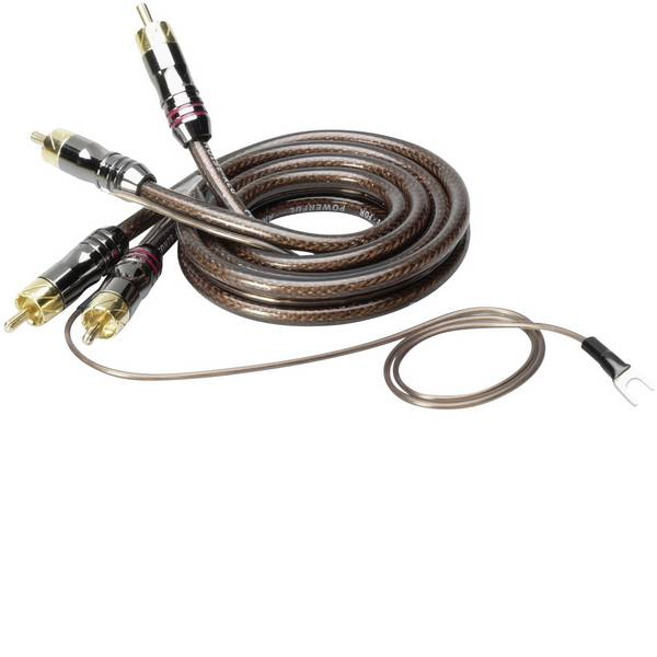 Cavi e connettori RCA HiFi per auto - Cavo RCA 0.80 m Sinuslive CX-08 [2x Spina RCA - 2x Spina RCA] -