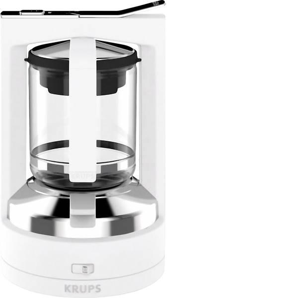 Macchine dal caffè con filtro - Krups KM468210 Macchina per il caffè Bianco Capacità tazze=12 con sistema di erogazione a pressione -