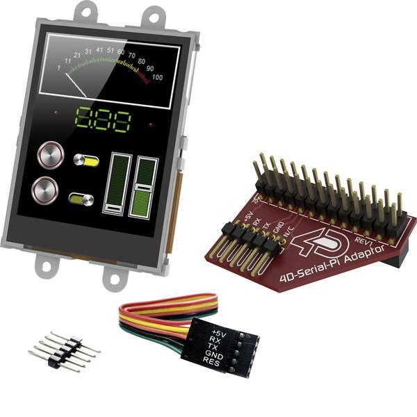 Kit e schede microcontroller MCU - 4D Systems Scheda di sviluppo uLCD-24PTU-Pi -