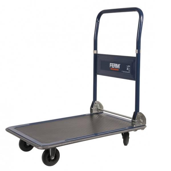 Carrelli con pianale - Carrello con pianale pieghevole Acciaio Capacità di carico (max.): 150 kg Ferm TTM1027 -
