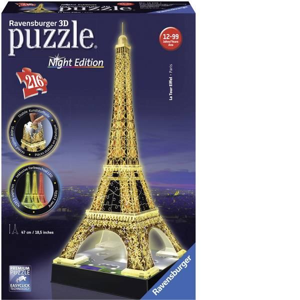 Puzzle - Ravensburger 3D Puzzle Torre Eiffel di notte -