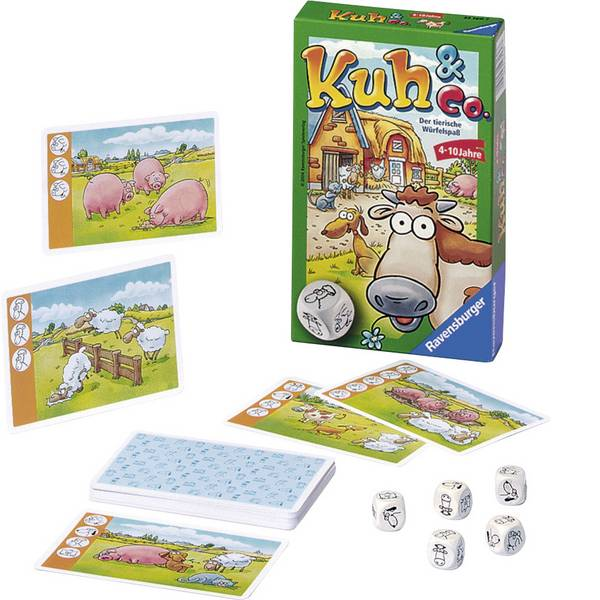 Giochi per bambini - Ravensburger Mitbringspiel mucca & Co. -