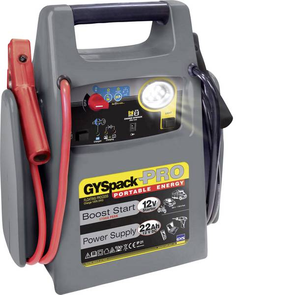 Jump Starter - Sistema di accensione rapido GYS PACK PRO 026155 Corrente davviamento ausiliaria (12 V)=600 A -