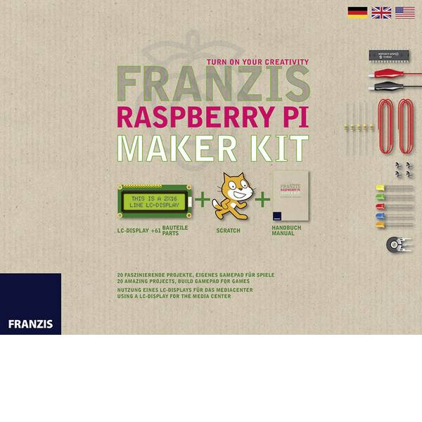 Kit esperimenti e pacchetti di apprendimento - Kit per i Makers Franzis Verlag Raspberry PI Maker Kit 65269 da 14 anni -