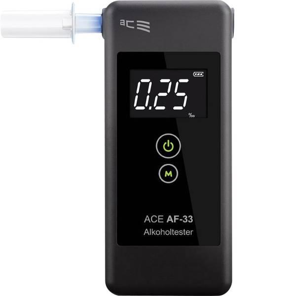 Etilometri - ACE AF-33 Etilometro Grigio scuro 0.00 fino a 5.00 ‰ incl. display -