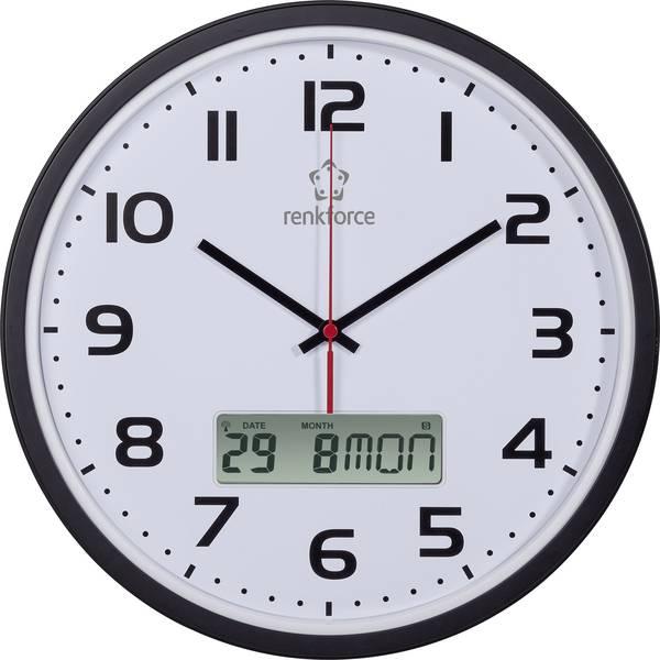 Orologi da parete - Renkforce HD-WRCL135 Radiocontrollato Orologio da parete 32 cm x 4.5 cm Nero -