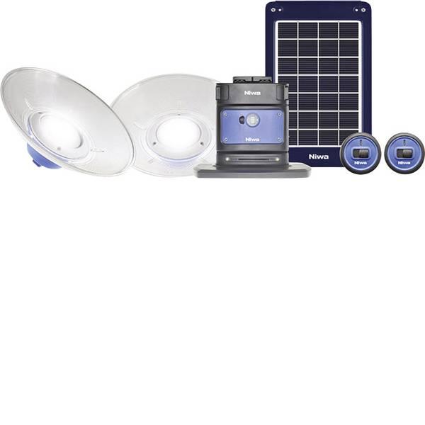 Lampade per campeggio, outdoor e per immersioni - LED Sistema dilluminazione NIWA Home 200 X2 200 lm a batteria ricaricabile, a energia solare 3250 g Blu 350091 -