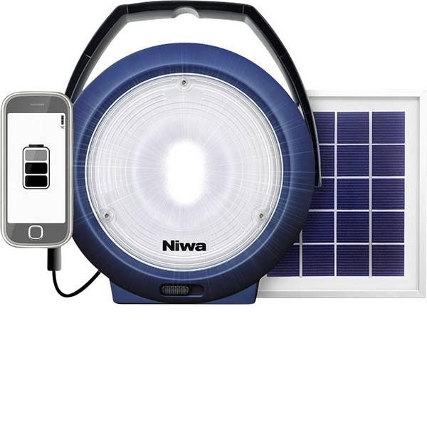 Lampade per campeggio, outdoor e per immersioni - LED Luce da campeggio NIWA Multi 300 XL 300 lm a energia solare, via USB Blu 350093 -