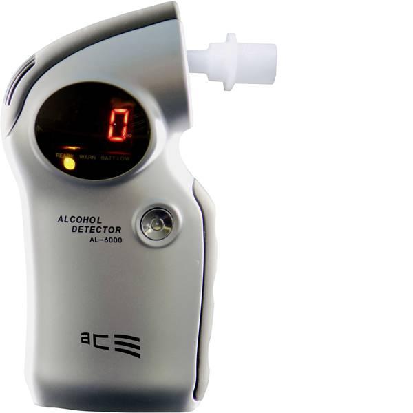 Etilometri - ACE AL6000 Etilometro Argento 0.0 fino a 4 ‰ Sensore sostituibile, incl. display -