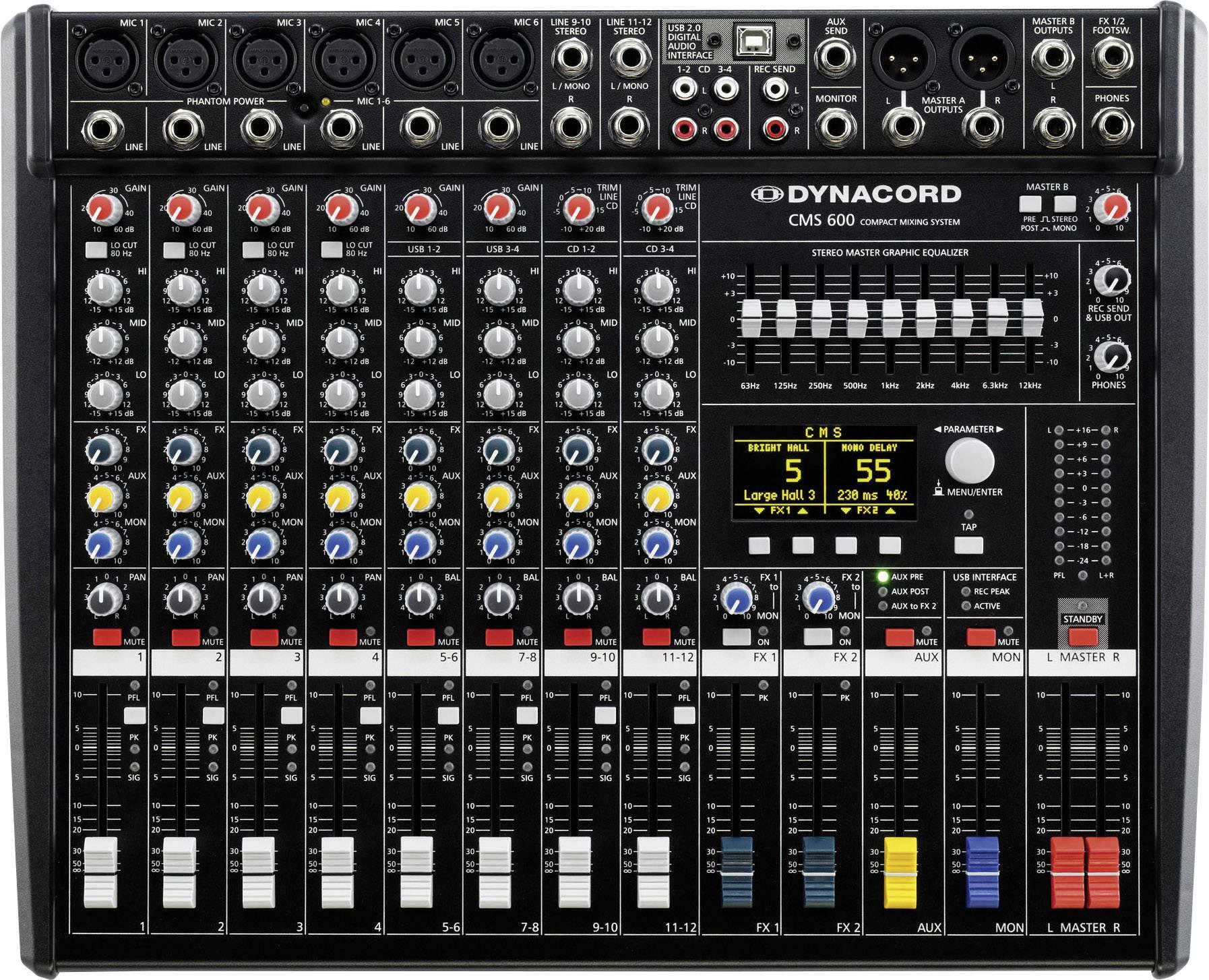 Dynacord CMS 600-3 Mixer DJ Numero canali:8