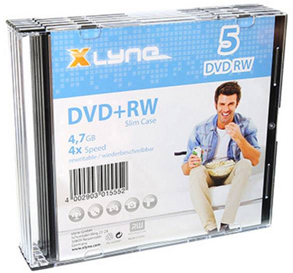 DVD+RW vergine 4.7 GB Xlyne 6005000S 5 pz. Slim case riscrivibile