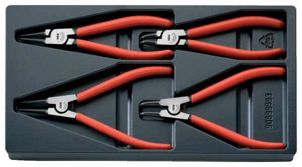 Kit pinze per anelli di sicurezza Adatto per Anelli esterni ed interni 19-60 mm 19-60 mm Forma della punta dritta,