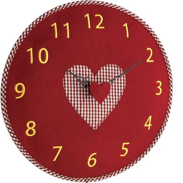 Orologi da parete - TFA 60.3025.05 Quarzo Orologio da parete 330 mm x 40 mm Rosso -