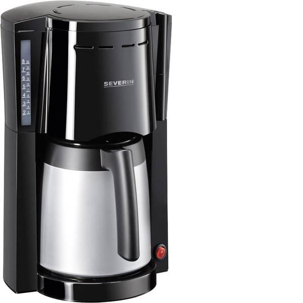 Macchine dal caffè con filtro - Severin KA 9482 Macchina per il caffè Nero - Argento Capacità tazze=8 Isolato -