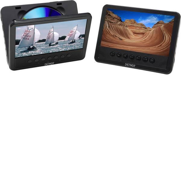 Sistemi DVD per poggiatesta auto - Denver MWT-756 TWIN NB Lettore DVD per poggiatesta con 2 monitor Diagonale schermo=17.8 cm (7 pollici) -