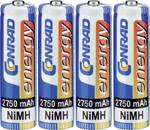 Accumulatori mignon NiMH Conrad energy 2750 mAh, set da 4
