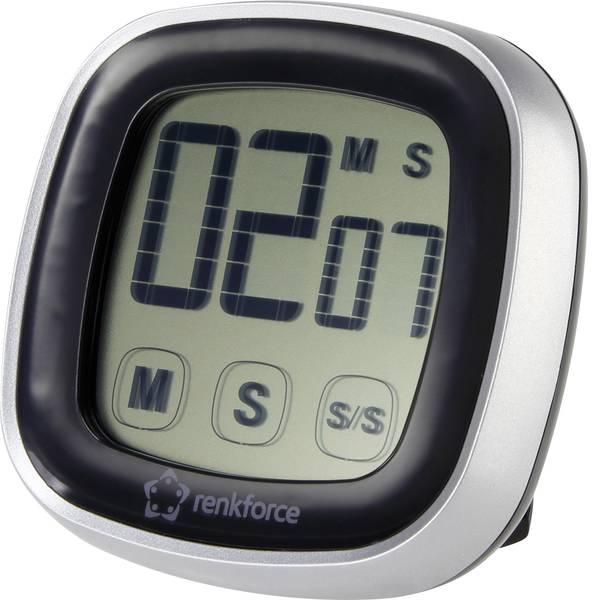 Timer - Renkforce Jumbo S2023 Timer Nero, Argento digitale -