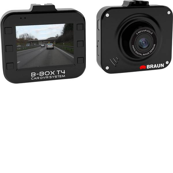 Dashcam - Braun Germany B-Box T4 Dashcam Max. angolo di visuale orizzontale=120 ° 12 V Batteria ricaricabile, Display, Microfono -