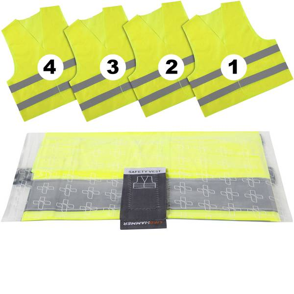 Prodotti assistenza guasti e incidenti - Giubbotto di sicurezza LifeHammer 10474 SAFETY VEST ULTRA Adulti -