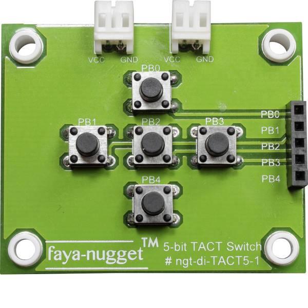 Moduli e schede Breakout per schede di sviluppo - Fayalab Nugget Faya 5 bit TACT Switch Modul Adatto per (scheda): Arduino, Fayaduino -
