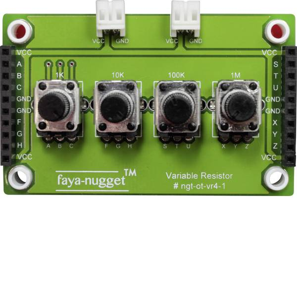 Moduli e schede Breakout per schede di sviluppo - Fayalab Nugget Faya Modul mit 4 variablen Resistoren 801-NU0009 Adatto per (scheda): Arduino, Fayaduino -