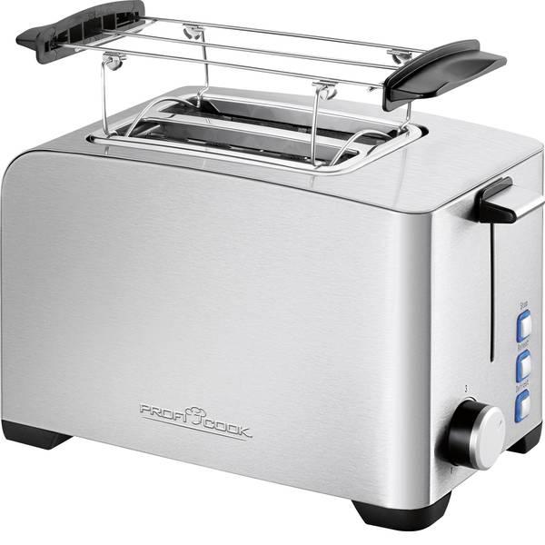 Tostapane - Profi Cook PC-TA 1082 Tostapane Con griglia scaldabriosche Acciaio, Nero -