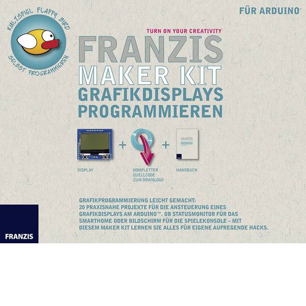 Kit esperimenti e pacchetti di apprendimento - Kit per esperimenti Franzis Verlag Maker Kit Grafikdisplays programmieren 65278 da 14 anni -