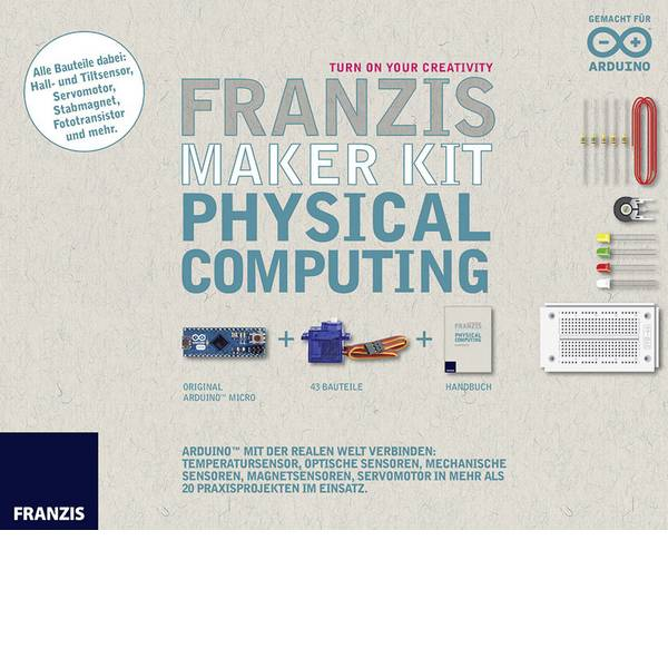 Kit esperimenti e pacchetti di apprendimento - Kit per esperimenti Franzis Verlag Maker Kit Physical Computing 65284 da 14 anni -
