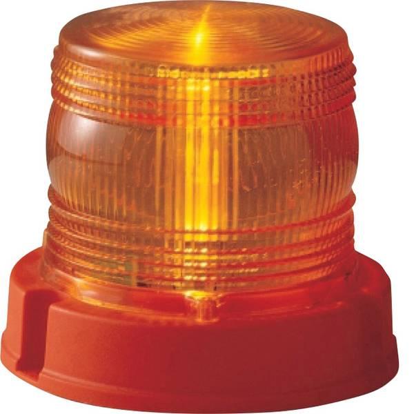 Lampeggianti e luci di segnalazione - AJ.BA Luce a tutto tondo FM.01.013 12 V, 24 V via rete a bordo Montaggio a vite Arancione -